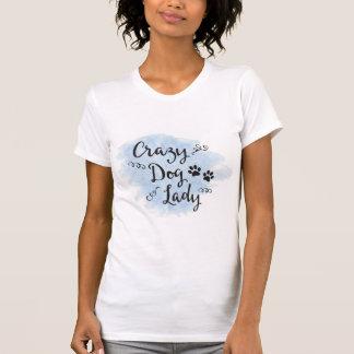 Camiseta Crazy Dog Lady (Blue)