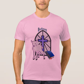 Camiseta Crea en el cordero