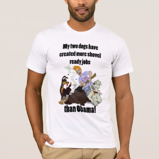 Camiseta Creando los trabajos listos de la pala - NObama