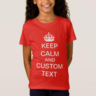 Camiseta Cree sus los propios guardan calma y continúan