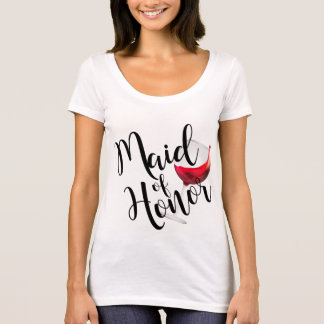 Camiseta Criada del vino del honor