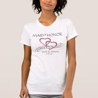 Camiseta Criada del VIP del banquete de boda del honor