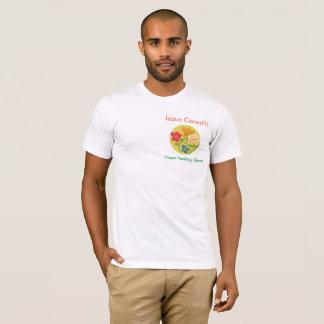 Camiseta cristiana de Jesús de la flor de la