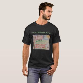 Camiseta cristiana de Jesús de la iglesia curativa