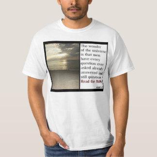 Camiseta cristiana de la biblia
