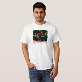 Camiseta cristiana del amor de la paz de la