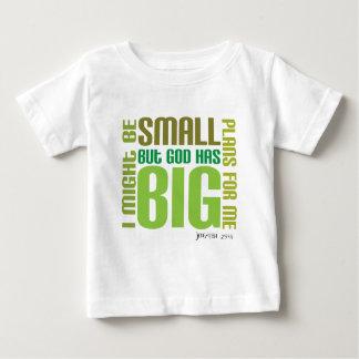 Camiseta cristiana del bebé de los planes grandes