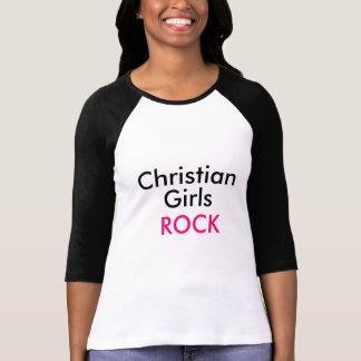 Camiseta cristiana del béisbol de la roca de los