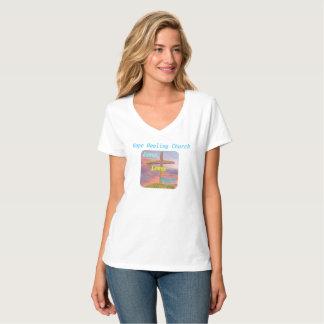 Camiseta cristiana del cuello en v de Jesús de la