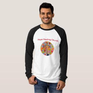 Camiseta cristiana del raglán de la iglesia