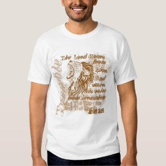 """""""Camiseta cristiana del rugido de los leones"""" Camisetas"""