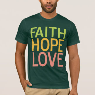 Camiseta cristiana inspirada del amor de la
