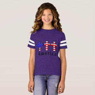 Camiseta ¡Cristianismo de América! ¡CAMISA ATLÉTICA PÚRPURA