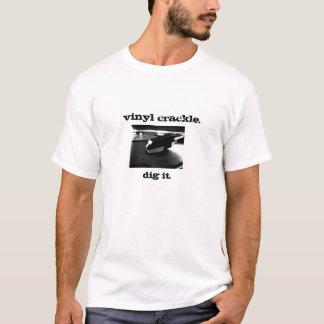 Camiseta Crujido del vinilo