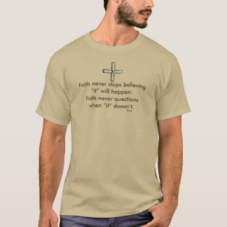 Camiseta Cruz corta nunca masculina del acero de la manga