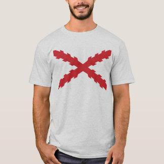 Camiseta Cruz de la bandera de Borgoña