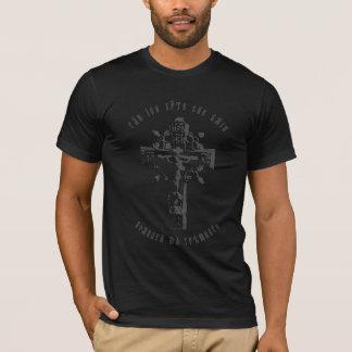 Camiseta Cruz ortodoxa rusa con el rezo de Jesús