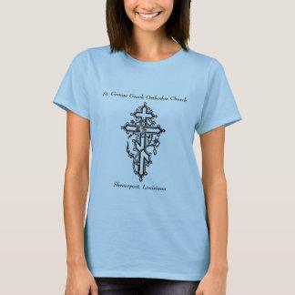 Camiseta cruz ortodoxa, San Jorge Churc ortodoxo griego…