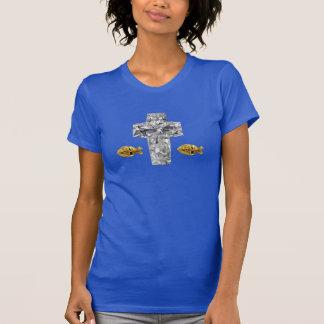 Camiseta cruzada ®Christian del diseño de las