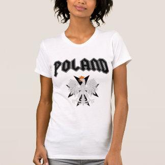 Camiseta cruzada negra de Polonia Eagle