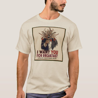 Camiseta Cthulhu que despierta el frente