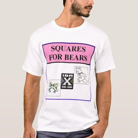 Camiseta cuadrados para los osos