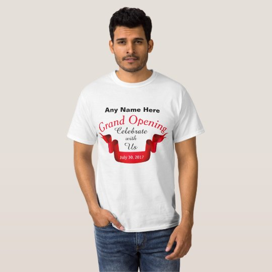 Camiseta Cualquie gran inauguración conocida -