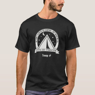 Camiseta Cuando vamos a acampar está EN TIENDAS. oscuro