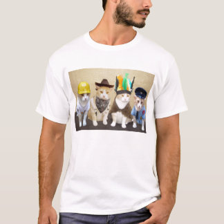 Camiseta Cuatro gatos divertidos