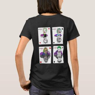 Camiseta Cuatro naipes de los gatos del payaso del comodín