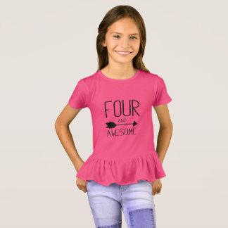 Camiseta Cuatro y 4to regalo de cumpleaños impresionante
