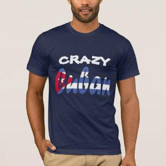 Camiseta cubana loca de la bandera