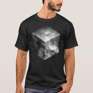 Camiseta Cubo cósmico - blanco y negro