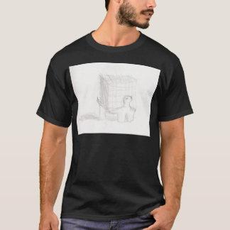 Camiseta cubo de la tortuga de caja que dibuja Eliana
