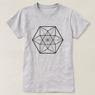 Camiseta Cuboctahedron centrado (fondo ligero)