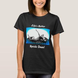 Camiseta Cucaracha del galgo upside-down en negro