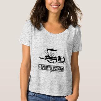 Camiseta Cuchara por completo del escote redondo de las