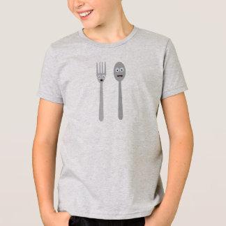Camiseta Cuchara y bifurcación Kawaii Zqdn9