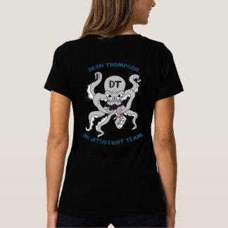 Camiseta Cuello en v equipo-Azul de las mujeres T de la