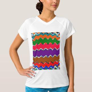 Camiseta Cuello en v seco doble T-Shir del entrenamiento de