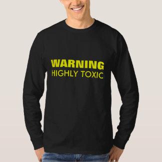 Camiseta CUIDADO de T-Shir superior de largo envuelto