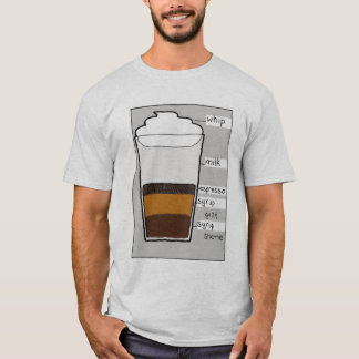 Camiseta Culpabilidad del jarabe del café express de la