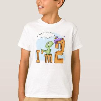 Camiseta Cumpleaños de la diversión de Dino 2do