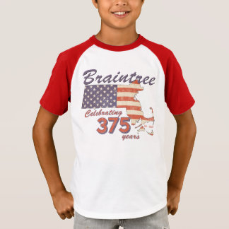 Camiseta Cumpleaños de la masa del KRW Braintree el 375o