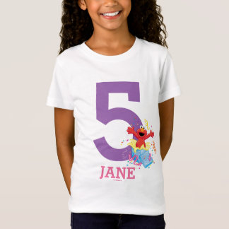 Camiseta Cumpleaños del chica del Sesame Street el | Elmo