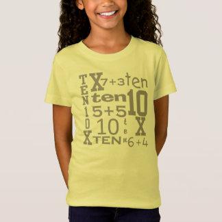 Camiseta CUMPLEAÑOS inspirado MATEMÁTICAS adaptable de la