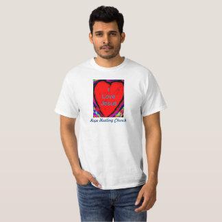 Camiseta curativa del cristiano de Jesús del amor