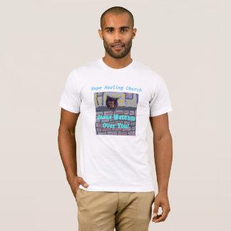 Camiseta curativa del cristiano del gato de Jesús
