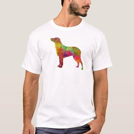 Camiseta Curly Coated Retriever in watercolor