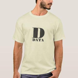 Camiseta D está para los datos